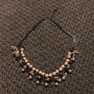 LOFT mixed media statement necklace